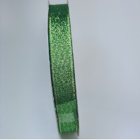 Glitter ribbon - GREEN -12mm