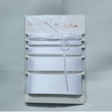 Set of Satin ribbons- 8002 WHITE
