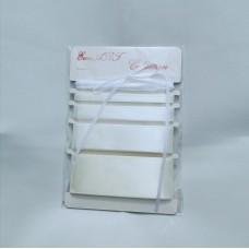 Set of Satin ribbons- 8003 ECRU