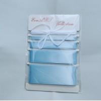 Set of Satin ribbons- 8099 BABY BLUE
