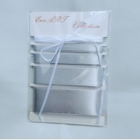 Set of Satin ribbons- 8139 GREY