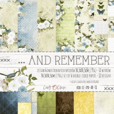 Craft O`Clock - ...And Remember - 12x12 Paper Set