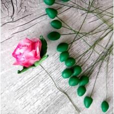 Cold porcelain cones - Green 0,9  x 1,3 cm