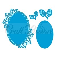 Craft Passion Dies - Oval frame with leaves