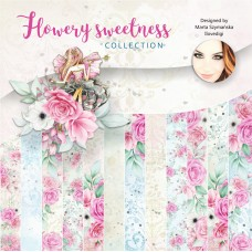 "Crafty Moly - FLOWERY SWEETNESS  12 x 12"" Paper Pad"