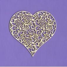 Openwork heart - 0270 Cardboard