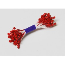 Pearl stamens - poppy red  - 0022 Stamen