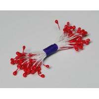 Pearl stamens  - red  - 0004 Stamen