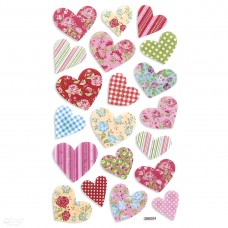 Foam Stickers - Hearts - 20 pcs
