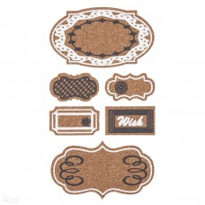 Cork Stickers - Tags - 6 pcs
