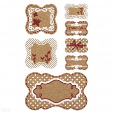 Cork Stickers - Tags - 7 pcs