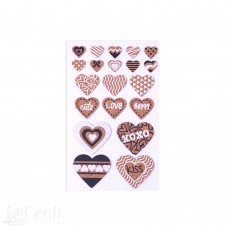 Cork Stickers - Hearts 2 - 20 pcs