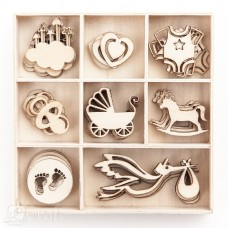 Wooden shapes - Baby - 40 pcs