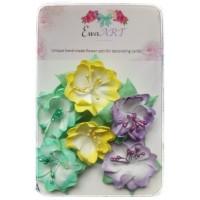 Unique hand-made flower set - Agnes