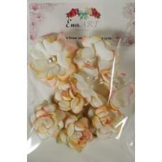 Unique hand-made flower set - 014 ECRU