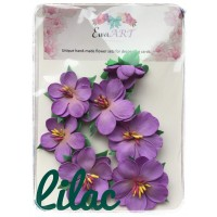 Unique hand-made flower set - Lilac