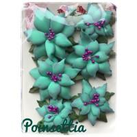 Unique hand-made flower set - Poinsettias