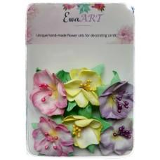Unique hand-made flower set - Spring