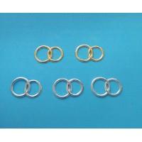 Wedding rings 5 pcs - golden and silver