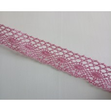 Lace 3.3 cm  wide - Pink