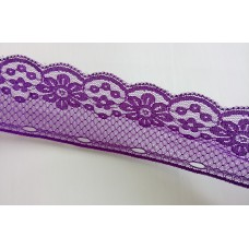 Lace 5.0 cm  wide - Violet