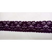 Lace 2.4 cm  wide - Dark Violet