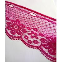 Lace 6.0 cm  wide - Dark Pink