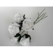 Bunch of roses  -  white
