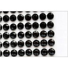 Self-adhesive crystals 4 mm black - 0015 Emb