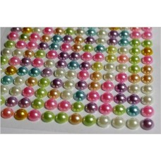 Self-adhesive pearls pastel mix 4 mm - 0008 Emb