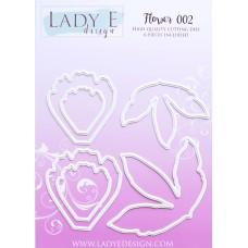 LADY E Design - Flower 002 Die  - Peony