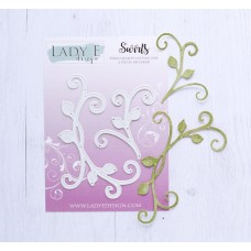 LADY E Design - Swirls  Die