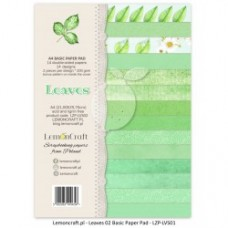 Lemoncraft - Leaves 02- BASIC A4 Paper Pad