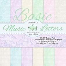 Lemoncraft - Music Letters - BASIC 12x12 Paper Pad