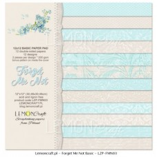 Lemoncraft - Forget Me Not - BASIC 12x12 Paper Pad