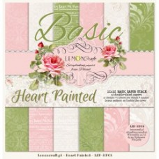 Lemoncraft - Heart Painted - BASIC 12x12 Paper Pad
