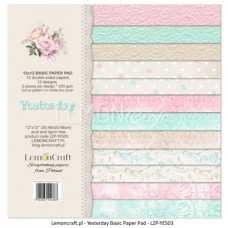 Lemoncraft - Yesterday - BASIC 12x12 Paper Pad