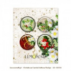 Lemoncraft - Set of 4 buttons - Christmas Carols