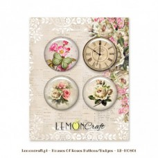 Lemoncraft - Set of 4 buttons - House Of Roses