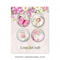 Lemoncraft - Set of 4 buttons - Lullaby 01