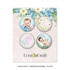 Lemoncraft - Set of 4 buttons - Lullaby 02