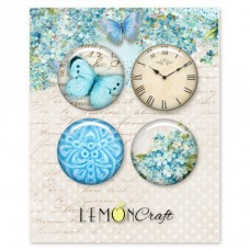 Lemoncraft - Set of 4 buttons - Forget Me Not
