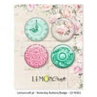 Lemoncraft - Set of 4 buttons - Yesterday