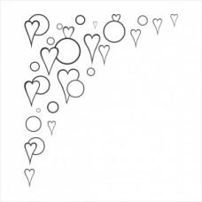 Heart corner - P01-277 Stamp