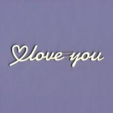 Love you - T1144 Cardboard