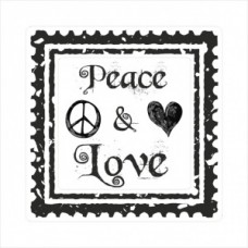 Peace and love - postage stamp - P01-168 Stamp