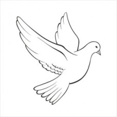 White dove - P01-256 Stamp