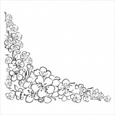 Flower corner - TP01-281 Stamp