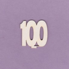 Numbers for the cake - 100 - 0791-100 Cardboard