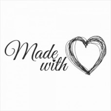 Made with love 02 large - P01-122 Stamp